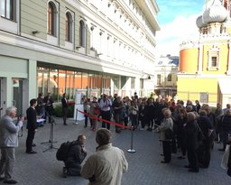 "​Photo Exhibition ""Iconic Figures of the Faculty of Journalism"" Inaugurated in Romanov Dvor"
